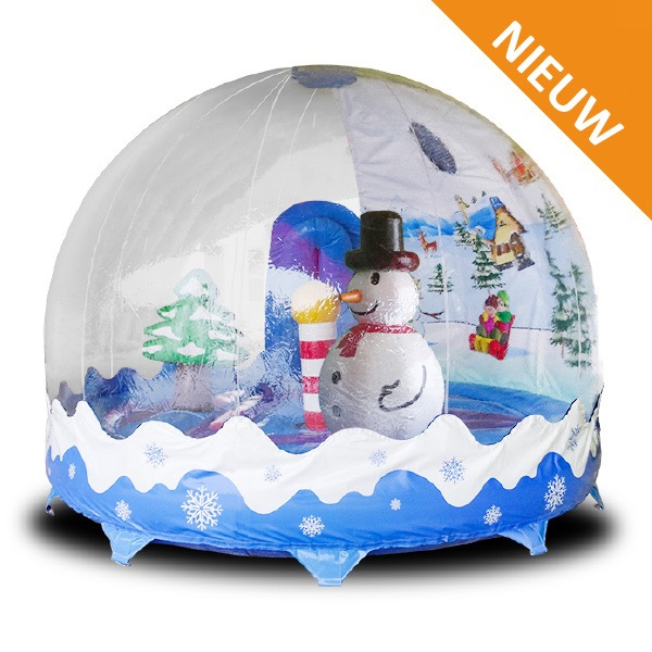 Springkussen Winter Globe
